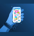 concept phone internet and social networks vector image