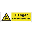 Danger Electrocution Risk Safety Sign vector image vector image