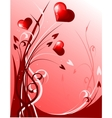 Decoration with hearts vector image vector image