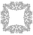 decorative symmetry calligraphy pattern black vector image