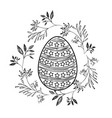 easter egg with decorative lines and stars and vector image vector image