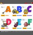 educational cartoon alphabet letters for children vector image vector image