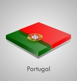 European flags set - Portugal vector image