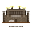 Exterior view on prison buildingjail architecture vector image vector image