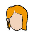 female character head woman avatar image vector image vector image