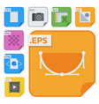 file types icons and formats labels file vector image vector image