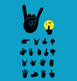 Finger silhouette vector image vector image