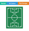 Flat design icon of football field vector image