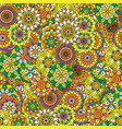 floral decorative mandala style pattern vector image vector image