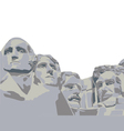 four presidents Mount Rushmore vector image