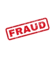 Fraud Text Rubber Stamp vector image vector image