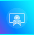 gamepad and tv icon vector image vector image