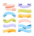 graine ribbons collection vector image vector image