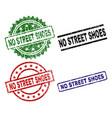 grunge textured no street shoes stamp seals vector image