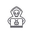 hacker concept thin line icon symbol sign vector image vector image