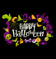 happy halloween banner with colors vector image vector image