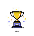 icon of golden trophy cup for success or winner vector image