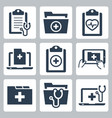 icon set patient medical record vector image vector image