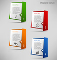 Info graphic with colored folded paper pointers vector image vector image
