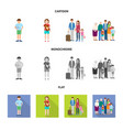 isolated object of character and avatar logo set vector image