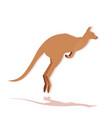 kangaroo icon cartoon endangered wild australian vector image