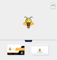 light bee flying bee logo template free business vector image vector image