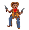 Little boy in the costume of Cowboy vector image