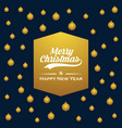 merry christmas golden card background vector image vector image