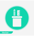pencil holder icon sign symbol vector image vector image