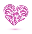 Pink brushstroke heart isolated on white vector image vector image