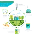 Planet Ecology Infographics vector image vector image