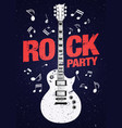 poster flyer design template for rock party vector image vector image