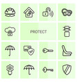 protect icons vector image vector image
