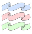 ribbon banners colored hand sketch vector image vector image