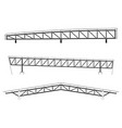 roofing building steel frame detail roof truss vector image vector image