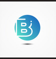 round symbol letter b design minimalist vector image vector image