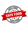 safe food label safe food red band sign safe food vector image vector image