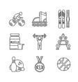 set of sport icons in sketch style vector image