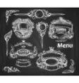 set of vintage banners Background chalkboard vector image vector image