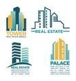 simple rel estate emblems vector image vector image