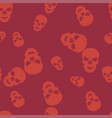 skull halloween pattern seamless color vector image