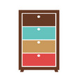 small commode with colorful boxes vector image vector image