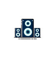 sound speaker logo design vector image