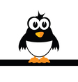 sweet and cute penguin color vector image vector image