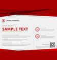 template layout abstract technology triangles red vector image vector image