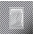 transparent blank template packaging foil wet vector image vector image
