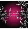 vector floral background5 vector image vector image