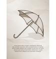 Vintage postcard Retro umbrella on grunge vector image vector image