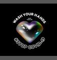 wash your hands stop coronavirus vector image vector image