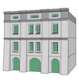 white building on white background vector image vector image